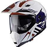 Caberg X-Trace Lux Dual Sport Helmet XL White Red Blue