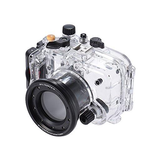 Andoer sy-640m/130FT Wasserdicht Kamera Gehäuse Unterseeboot transparent für Sony RX100II