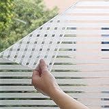 BRUSSELS08trasparente autoadesivo autoadesivo strisce per la privacy opaco vetro smerigliato porta adesivi decorativi finestra copre per bagno di casa ufficio sala riunioni soggiorno, PVC, White, medium
