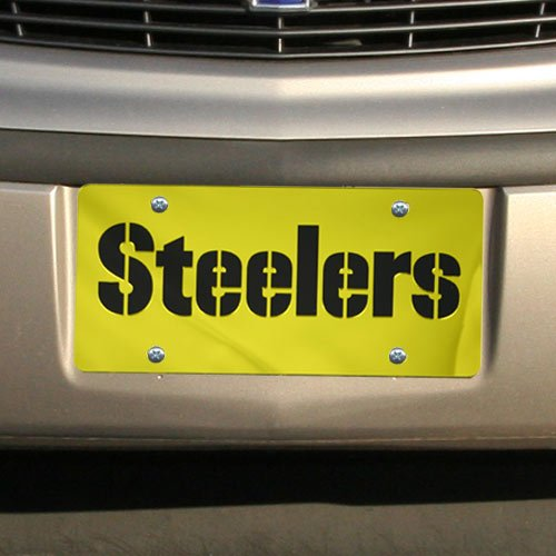 Frame Pittsburgh Plate License (Pittsburgh Steelers Laser Cut Gelb License Plate)