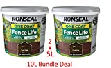 Ronseal 5L One Coat Fence Life Fence Paint Bundle Deal 2 for £22.95-2
