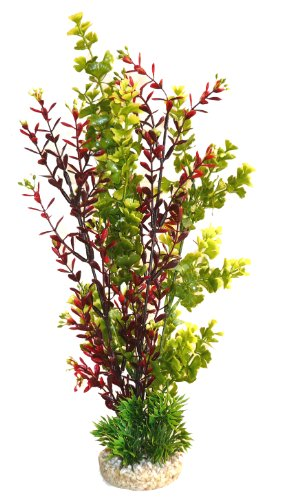 Sydeco Aquarium Plant Aqua Flower Plant Height 35 cm Green/Red 1