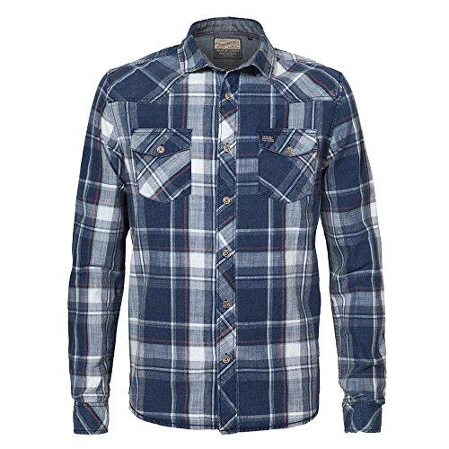 Petrol Industries Herren Freizeithemd Shirt Ls 579-/-M-fw16-sil521 Marine