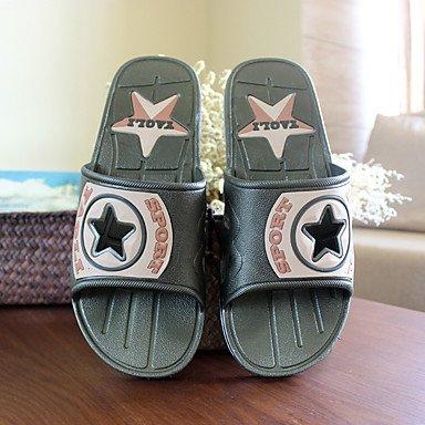 Slippers & amp da uomo;Casual tallone piano Estate laccio dietro PVC Altri Blu Verde Altri Sandali sandali US8.5-9 / EU41 / UK7.5-8 / CN42