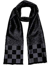 LORENZO CANA Luxus Herren Schal aus 100% Seide aufwändig jacquard gewebt Damast Seidenschal Seidentuch Tuch 25 x 160 cm