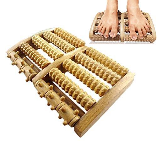Holz Roller Fuß Massagegerät Fußreflexzonen-Plattform Zur Verbesserung Der Fußzirkulation Fuß Fasciitis Fußschmerzen | Maderotherapie | Anti-Stress-Massage-Roller Für Haus Und Büro