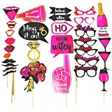 jaunty partyware 30pk Pre-Assembled Hen Party Props | Includes Ebook | Ready to use Hen Party Photo Booth Props for Hen Do Accessories and Hen Party Accessories
