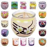 HScandle 10er Pack Duftkerzen Raumduft Auswahl: Vanille Orchidee