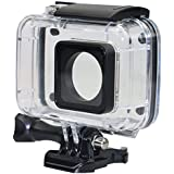 Taslar Diving Protective Housing Waterproof Protective Case Cover for Xiaomi 4K/ Yi 4K+/Yi Lite/YI Discovery 4K Action Camera with Bracket (Black)