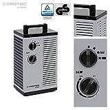 TROTEC TDS 20 P - Riscaldatore elettrico in ceramica, termostato integrato, due livelli di riscaldamento e un livello di aria fredda separato, 3kW