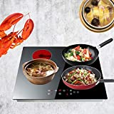 Touch Control 4 Zone Electric Ceramic Hob Cooker Black|590mmx520mmx62mm
