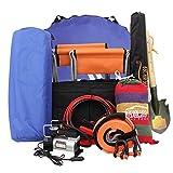 cloudwhisper 1Set Ultimate Auto Sicherheit Fahren Travel Kit Notfall Breakdown Road Sicherheit Kit Fahrzeug Auto Van Caravan Warndreieck Tools