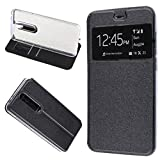 MISEMIYA - Custodia Cover Nokia 5.1 Plus 2018 / Nokia X5 - Custodia, Cover Magnet Sport,Nero