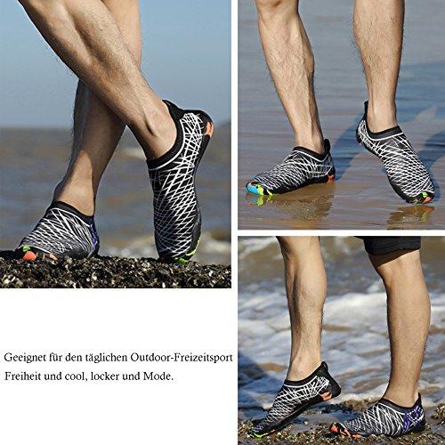 Praia Sapatos Unissex, Do Aqua Sapatos Bainasiqi Secagem Rápida Sapatos Badeschuhe Sapatos De Surf Flutuante Para Senhoras Homens Crianças E Bebê Branco