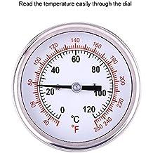 Barbacoa Termómetro Acero inoxidable 0 ℃ -120 ℃ BBQ Grado Horno leña Bimetálico y Horno