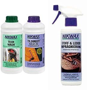 NIKWAX Unisex Bekleidungswaschmittel Nikwax Tech Wash+TX-Direct, 2x1l (VPE3)