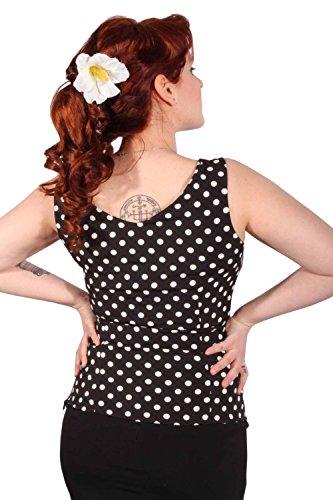 vintage Polka Dots Schleifchen Rockabilly Punkte Schleife Shirt Top -