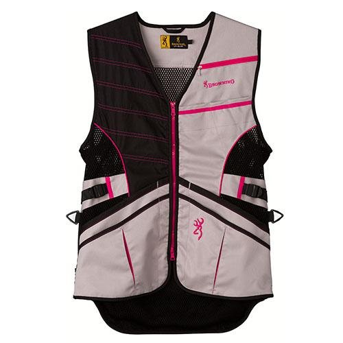 Browning Ace Shooting Vest, Hot Pink, Medium Mesh-shooting Vest