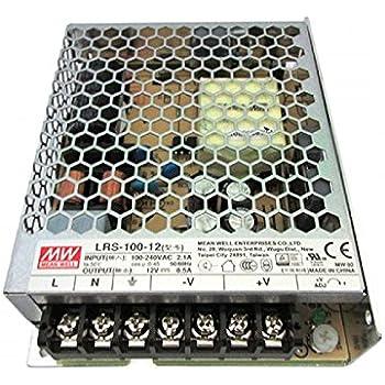 Schraubklemmen Metallgehäuse 100W Industrie-Netzteile m MEAN WELL Serie RS-100