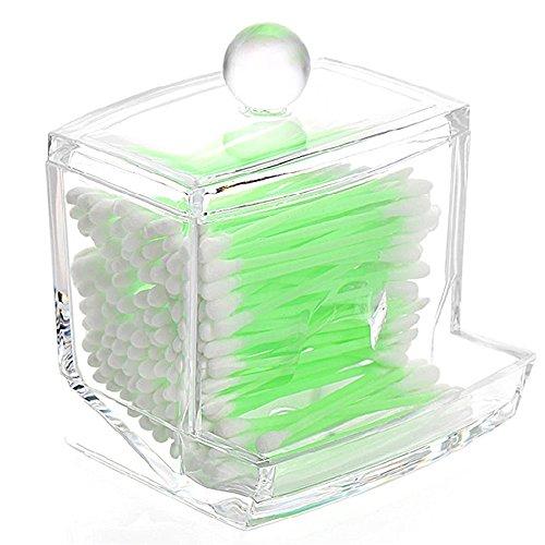 Honearn Wattestäbchen Kosmetik Make Up Behälter Box Aufbewahrung Acryl klar