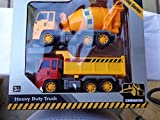 Construction Vehicles Heavy Duty Set of 2 Trucks Friction Powered Play Set by Toys4less