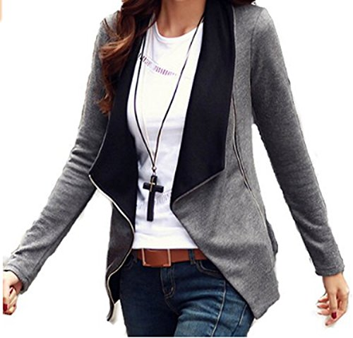ZEARO Damen Blazer Fashion Lässige Blazer Loose Strickjacke Cover Up Kimono Langarm Cardigan Outwear
