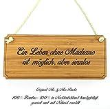 Mr. & Mrs. Panda Türschild Stadt Madrano Classic Schild - Gravur,Graviert Türschild,Tür Schild,Schild, Fan, Fanartikel, Souvenir, Andenken, Fanclub, Stadt, Mitbringsel