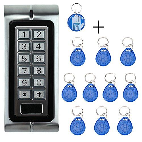 OBO HANDS 125KHZ Metall Access Controller Tastatur Wasserdicht RFID Türschloss Access Control System K2 Modell + 10 Stück RFID Keyfobs Rfid Türschloss-kit