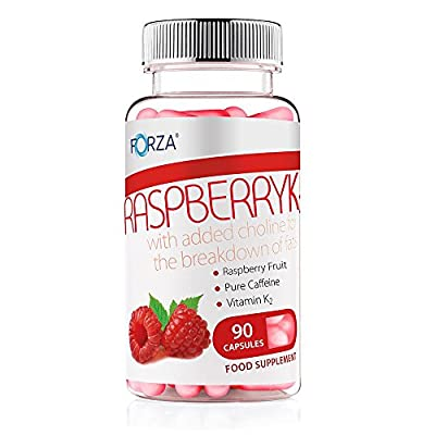FORZA Raspberry K2 - Natural Fat Burners with Pure Raspberry Extract - Pot of 90 Capsules by 0764210455264