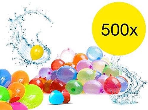 TK Gruppe Timo Klingler 500x Wasserbomben Wasser Bomben Ballon Luftballons bunt Großverpackung in bunten Farben Wasserspielzeug Spielzeug für Kinder
