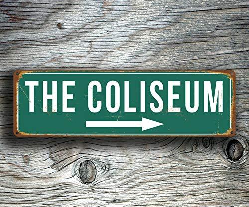 CELYCASY The Coliseum Schild Vintage Stil Coliseum The Coliseum Oakland Athletics Baseball Schilder Oakland Baseball Schild Oakland Athletics - Oakland Athletics Design