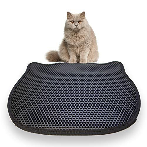 KatzenLiebe Katzenstreu-Matte | Hochwertiger Unterleger/Vorleger für Katzenklos & Toiletten, doppellagig & wasserdicht