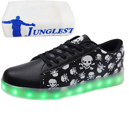 [Présents:petite serviette]JUNGLEST® - 7 Couleur Mode Unisexe Homme Femme Fille USB Charge LED Chaussures Lumière Lumineux Clignotants Chaussures de marche Haut-Dessus LED Ch c34