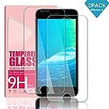 Youer Verre Trempé pour iPhone 8/7/6S/6, [2 Pièces] Dureté 9H 0.33mm en Verre trempé écran - Anti Rayures - Ultra Résistant - Compatible 3D Touch Glass Screen Protector pour iPhone 8/7 / 6s / 6.