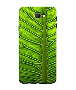 FUSON Designer Back Case Cover for Samsung Galaxy J5 Prime (Bright Green Leaf Of Tree Full Of Life Network Of Veins)