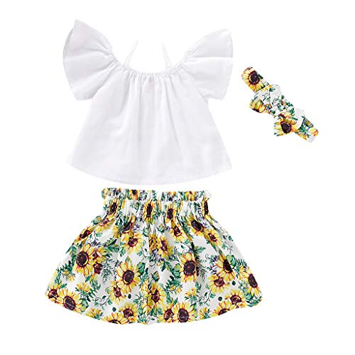 Zegeey MäDchen Baby Bekleidungssets AnzüGe Schulterfrei Plaid Straps Lace Tops Blusen Bow Shorts Outfits Set Geburtstag Geschenk(W1-Weiß,110-120cm) - Plaid Strap