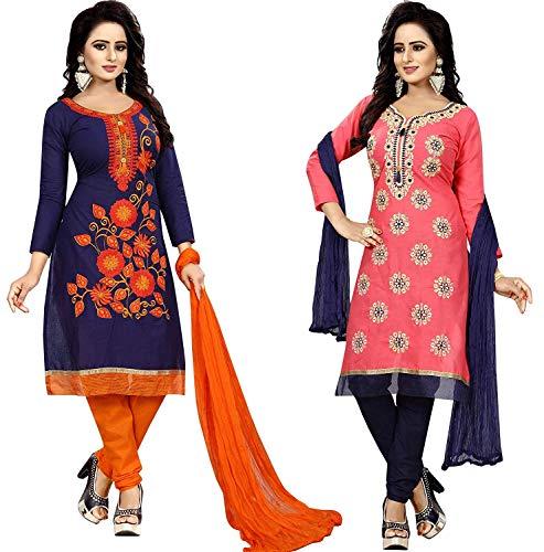 ba40a4724c DHARMI FASHION Women\'s Unstitched Anarkali Salwar Suit Salwar Suit  Material (Multicolour,