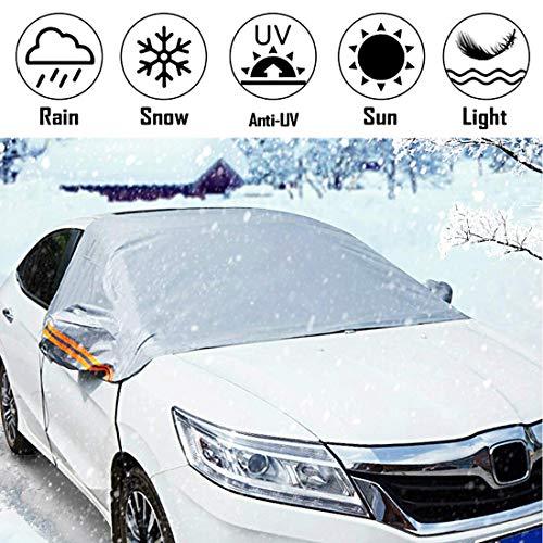 WMYWBYT Auto Windschutz Abdeckung Schnee Abdeckung Winte Auto Windschutzscheibe Abdeckung Sonne Schatten Protector L/XL für Van SUVs LKW RVs(240 * 150CM)