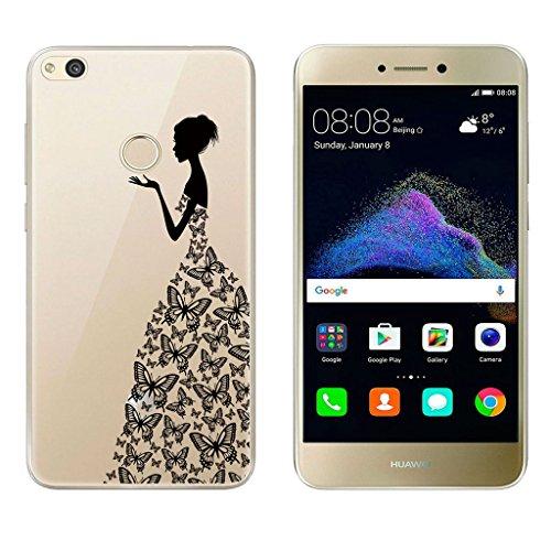 "TUTUWEN Coque Huawei P8 Lite 2017 Huawei P8 Lite 2017 Coque Housse Etui TPU Silicone Clair Transparente Ultra Mince Anti-Scratch Back Cover pour Huawei P8 Lite 2017 5.2"""