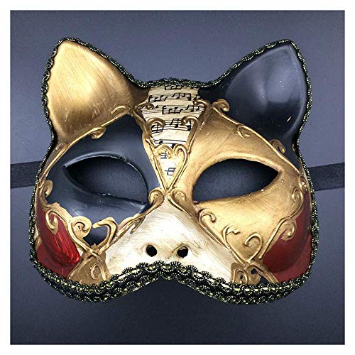 YaPin Halloween Harz japanische Kagetane Hiruko Maske Erwachsene Maskerade Party Requisiten (Color : Red Black)