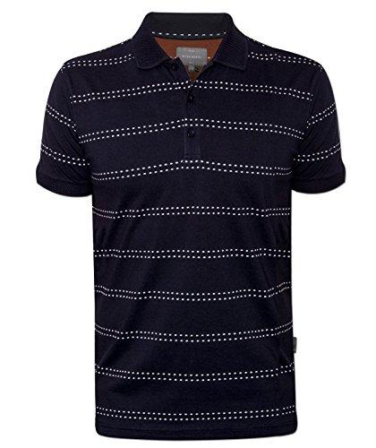 Peter Werth Elsworth Mens Navy Short-Sleeved Polo Shirt
