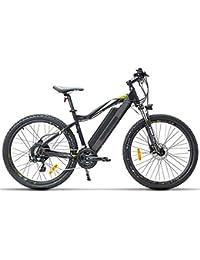 """HWOEK Bici Electricas Adult, 27.5"""" Bici de Ciudad/Montaña/Excursión 400W Motor sin Escobillas 48V13AH Batería de Litio Extraíble Doble Freno de Disco De Largo Alcance Unisex"""