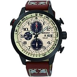Seiko Men's Watch PROSPEX Chronograph Quartz Leather SSC425P1