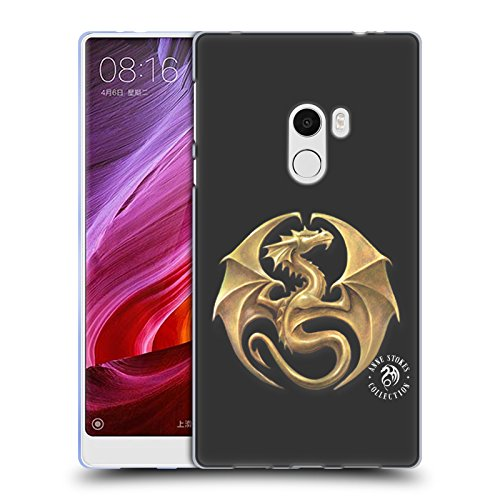 Official Anne Stokes Dragon Medal Fire Tribal Soft Gel Case for Xiaomi Mi Mix