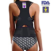Everyday Medical Back Lumbar Support Brace, Best Shoulder Brace Posture Corrector For Women, Men, Senior and the Elderly, Fully Adjustable Improves Slouching, Back Pain & Thoracic Kyphosis