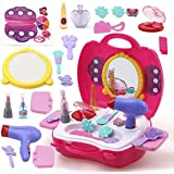 FunBlast® Pretend Play Cosmetic and Makeup Toy Set Kit for Little Girls & Kids, (Set of 21 Pcs),Beauty Salon Toys