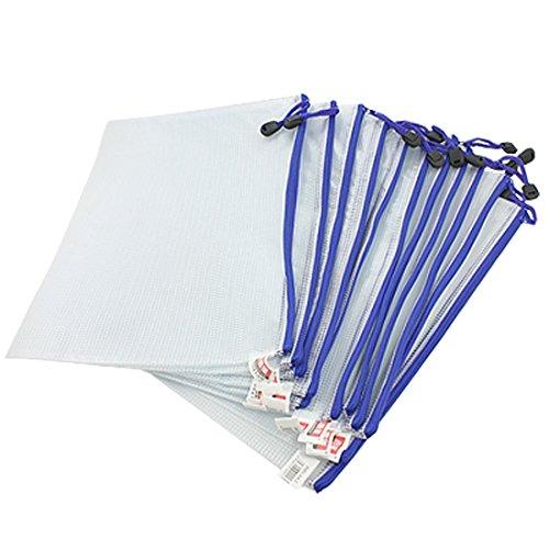 12-tlg. Ordner Mappen Pack PVC, Zip Tasche Dokumentendatei /PVC Schulbüro A5 Magazin Dokumentendatei Zippy Verschluss Mappenhalter Tasche A5-A5 Blanc Nouveau