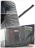 Yalulu Faltbarer Einziehbare Universal Sonnenschutzrollo Auto Seitenfenster Sonnenschutz Seitenfenster Rollo Abdeckung für Auto