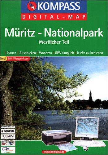 Müritz - Nationalpark westlicher Teil: Digital Map mit Kurzführer