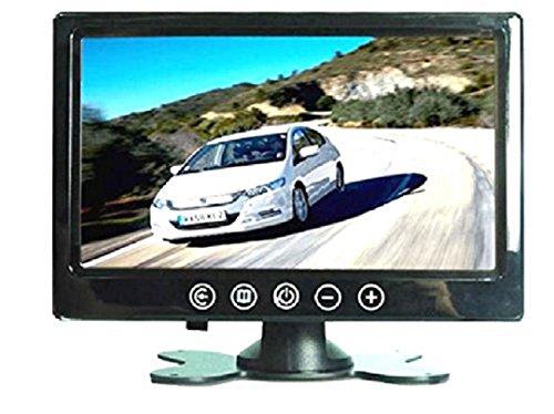 Monitor 10.1pulgadas TFT/LED Hi-Res 1024x 600pantalla Monitor a colores botones a táctil con mando a distancia para coche caravana Casa